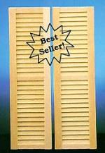 Detailed Louvered Shutters
