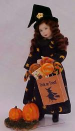 Girl In Halloween Witch Outfit