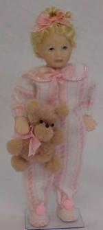 Girl In Pink With Teddy
